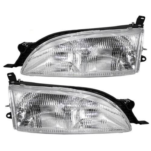 1995 1996 Toyota Camry Headlight Lens Emblies Pair