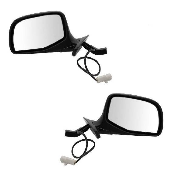 1992-1997* Ford Super Duty Power Mirrors Chrome -Pair