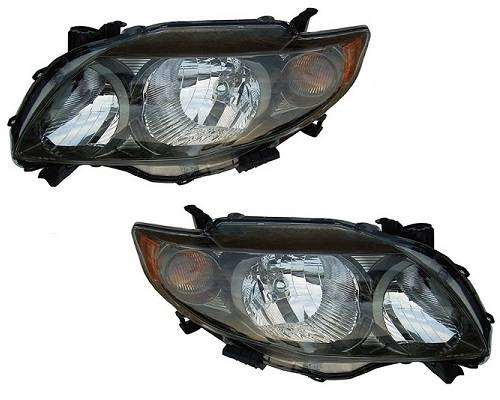 2009 2010 Pair Corolla Headlight S Xrs Usa Built Integrated Signal