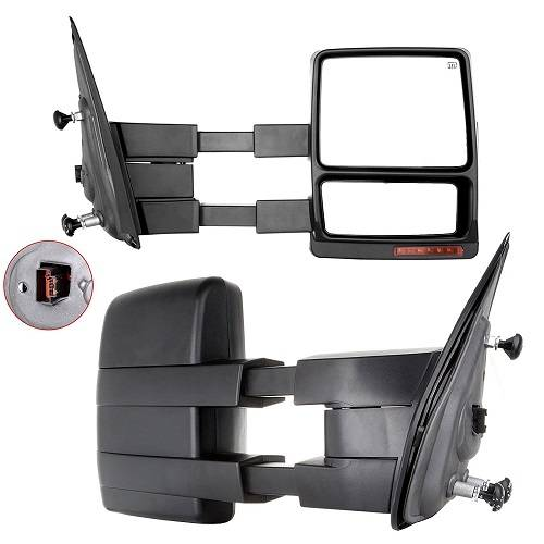 2007 2014 f 150 tow mirrors power heat signal set. Black Bedroom Furniture Sets. Home Design Ideas