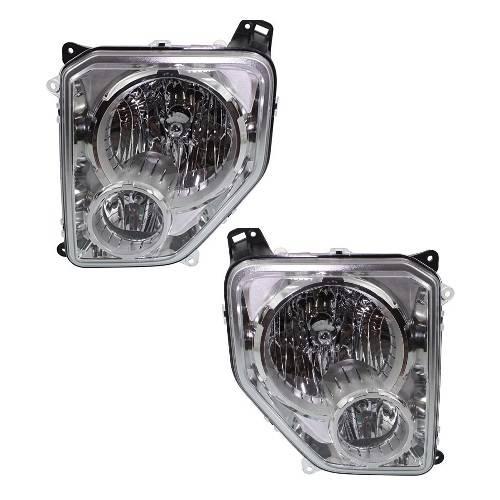 2008-2012 Jeep Liberty W/ Foglights Headlight -Pair