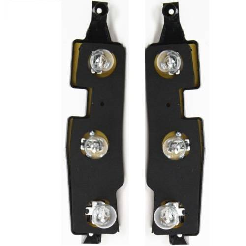 1992 1999 Chevy Suburban Tail Light Connector Plate With Bulbs Pair