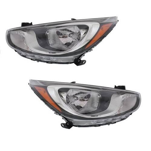 New Set Of 2 Halogen Head Lamp Assembly Left & Right Side Fits Hyundai  Accent | Hyundai Accent 2012 Headlight Bulb |  | Pepa Bonett