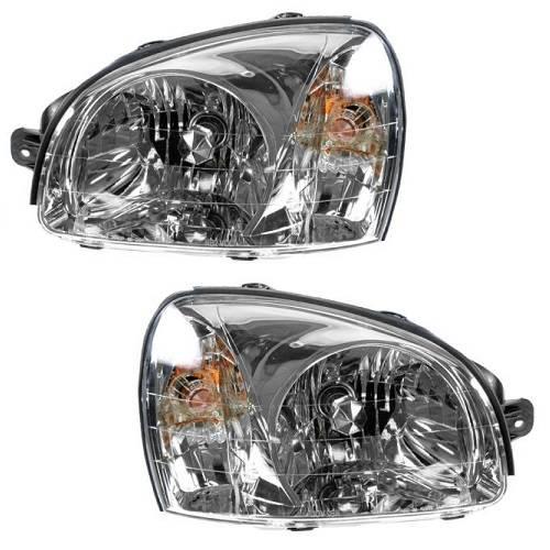 2003 2004 2005 2006 Pair Hyundai Santa Fe Headlight Embly New