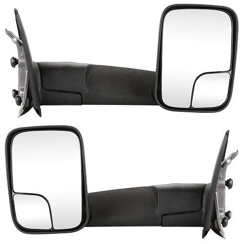 2002*-2010* Dodge Ram Manual Tow Mirrors -Pair