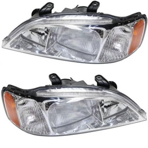 1999 2001 Acura TL Headlights Pair 99 00 01