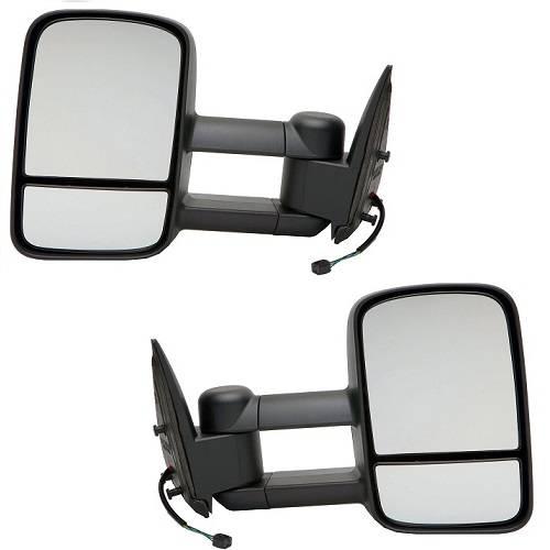 New Sierra Power Heated Telescopic w//Signal Lamp Upgrade Tow Mirror Left Driver