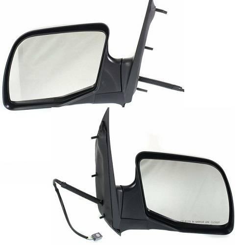 1994-2006 Econoline Van Left Driver Power Paddle Type Single Glass Mirror