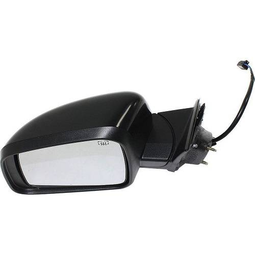SCITOO Driver Left Side Mirror Flat Side View Mirror Fits for 2005-2010 for Jeep Grand Cherokee Power Control Heated Manual Folding 55156453AE CH1320246