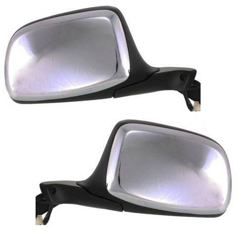 1992 1996 F150 Side View Door Mirrors Power Chrome Driver And Passenger Set