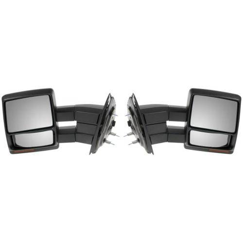 2007 2012 ford f 150 telescopic towing mirrors power signal pair extendable. Black Bedroom Furniture Sets. Home Design Ideas