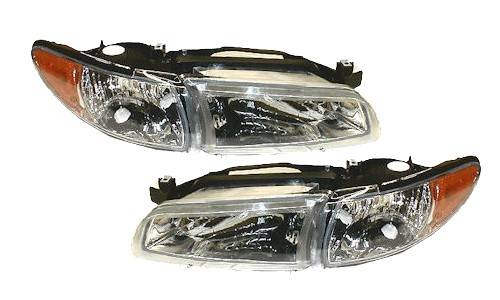 1997 2003 Grand Prix Headlights Pair 1998 1999 2000