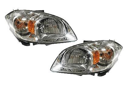2005 2010 Chevrolet Cobalt Headlights Smoked Lens Pair 2006 2007