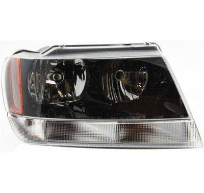 2002 2003 Jeep Grand Cherokee Headlight Dark Background