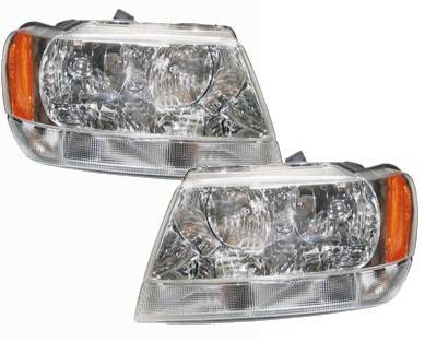 1999 2004 Jeep Grand Cherokee Limited Headlights Pair 2000 2001