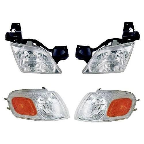 1999 2005 Pontiac Montana Headlights Park Lamps Kit 4 Pc Set
