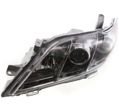 2007 2009 toyota camry se headlight lens assembly black trim left. Black Bedroom Furniture Sets. Home Design Ideas