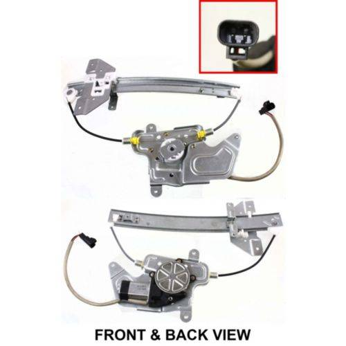 Oldsmobile Alero 2000 2001 Remanufactured: 1999-2004 Alero Power Window Regulator / Motor -L Rear