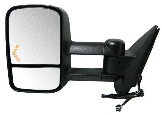 2007 2014 silverado extendable tow mirror with signal l. Black Bedroom Furniture Sets. Home Design Ideas