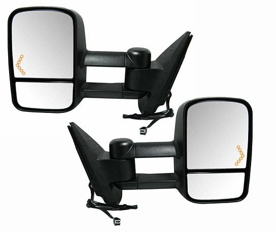 2007*-2014* Sierra Extendable Tow Mirrors W/ Signal -Pair
