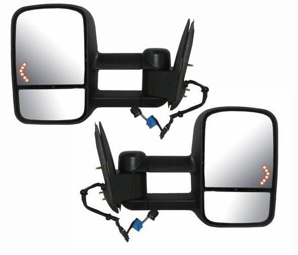 2003 2007 silverado telescopic tow mirrors w signal pair. Black Bedroom Furniture Sets. Home Design Ideas