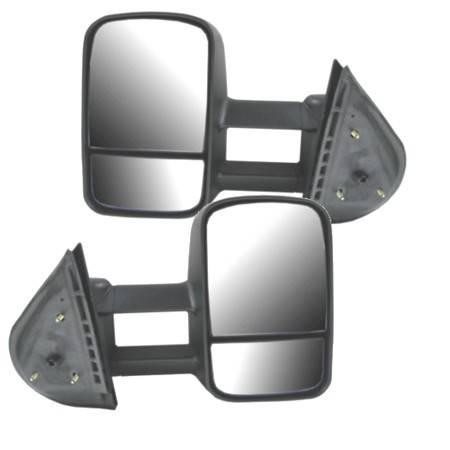 2007 2014 silverado extendable tow mirrors manual set rh 1autoshop com 2014 Silverado Manual Transmission Chevy Silverado Base