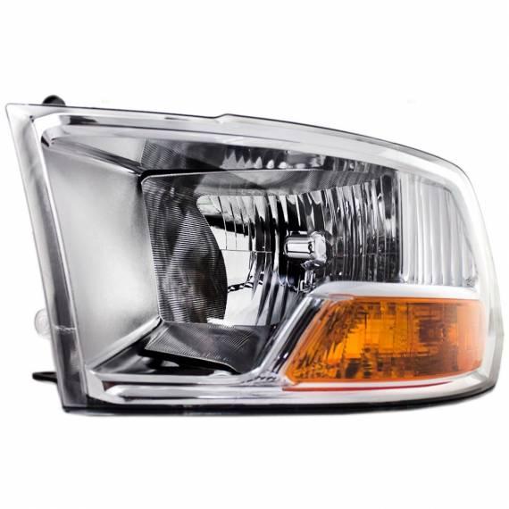 2009 2012 dodge ram pickup truck headlights w out quad set. Black Bedroom Furniture Sets. Home Design Ideas