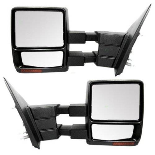 2007 2014 f 150 towing mirrors power heat signal pair. Black Bedroom Furniture Sets. Home Design Ideas