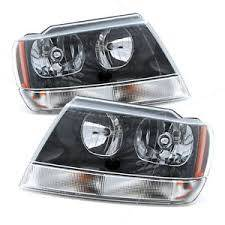 2002 2003 Jeep Grand Cherokee Headlight Assemblies  Pair