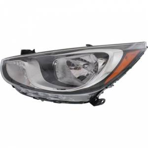 2012, 2013, 2014 hyundai accent headlight assembly new replacement halogen  headlight without projector beam