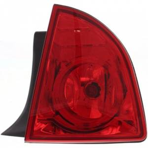 2008-2012 Malibu Rear Taillight Lens And Housing Assembly 2008, 2009, 2010, 2011, 2012 -Quarter Panel (body) Mount Lamp With Red Lens