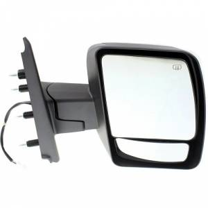 Mirror Power Black Textured Driver Side Left for Nissan NV 1500 2500 3500