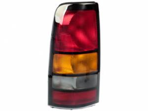 gmc sierra rear tail light lens housing assembly
