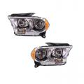 Durango - Lights - Headlight - Dodge -# - 2011 2012 2013 Durango Headlights Chrome -Driver and Passenger Set