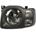 Xterra - Lights - Headlight - Nissan -# - 2002 2003 2004 Xterra XE Headlight Dark Gray -Left Driver
