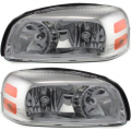 Montana SV6 - Lights - Headlight - Pontiac -# - 2005-2009 Montana SV6 Front Headlight Lens Cover Assemblies -Driver and Passenger Set
