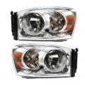 Ram Pickup Truck - Lights - Headlight - Dodge -# - 2007 2008 2009* Dodge Ram Truck Headlights-Driver and Passenger Set