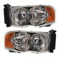 2002*-2005 Dodge Ram Front Headlight Lens Cover Assemblies -Driver and Passenger Set