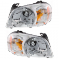Tribute - Lights - Headlight - Mazda -# - 2005-2006 Tribute Front Headlight Lens Cover Assemblies -Driver and Passenger Set