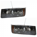 Avalanche - Lights - Headlight - Chevy -# - 2002-2006 Avalanche With Cladding Headlights -Driver and Passenger Set