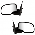 Sierra 1999-2018 - Mirror - Side View - GMC -# - 1999-2002 Sierra Outside Door Mirrors Power Heat Textured -Driver and Passenger Set