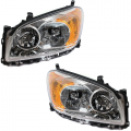 RAV4 - Lights - Headlight - Toyota -Replacement - 2009-2012 Rav4 Front Headlight Lens Cover Assemblies Chrome -Driver and Passenger Set