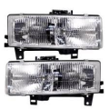 Van Savana 1996-2014 - Lights - Headlight - GMC -# - 1996-2002 Savana Van Headlight Lens -Driver and Passenger Set